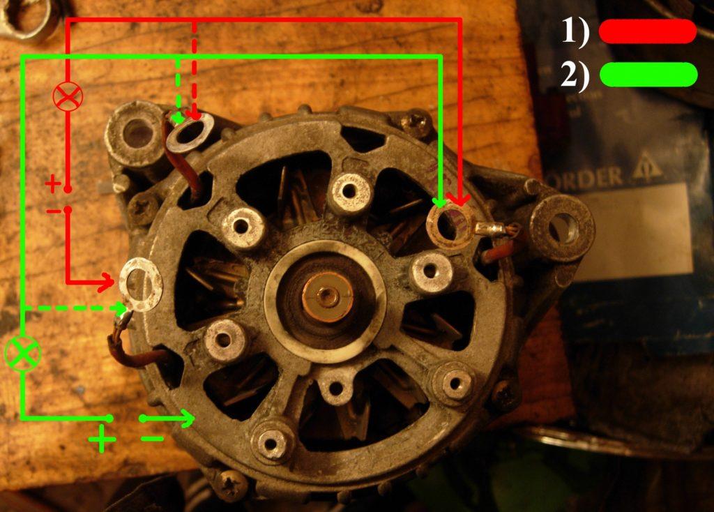 Рис. 2 Схема подключения блока диодов