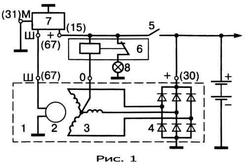 gener15 - Электрическая схема автомобильного генератора