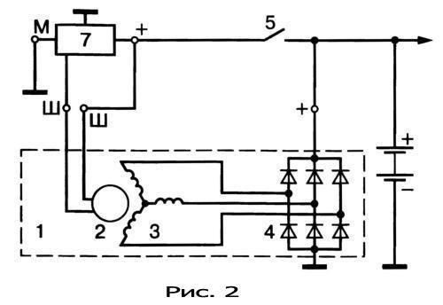 gener16 - Электрическая схема автомобильного генератора