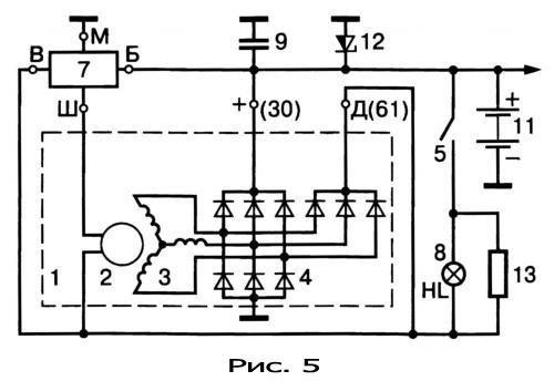 gener18 - Электрическая схема автомобильного генератора