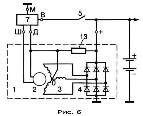 gener19 - Электрическая схема автомобильного генератора
