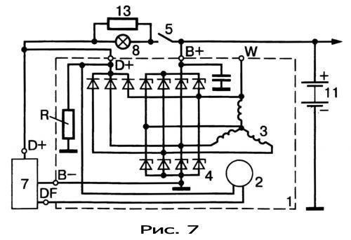 gener20 - Электрическая схема автомобильного генератора