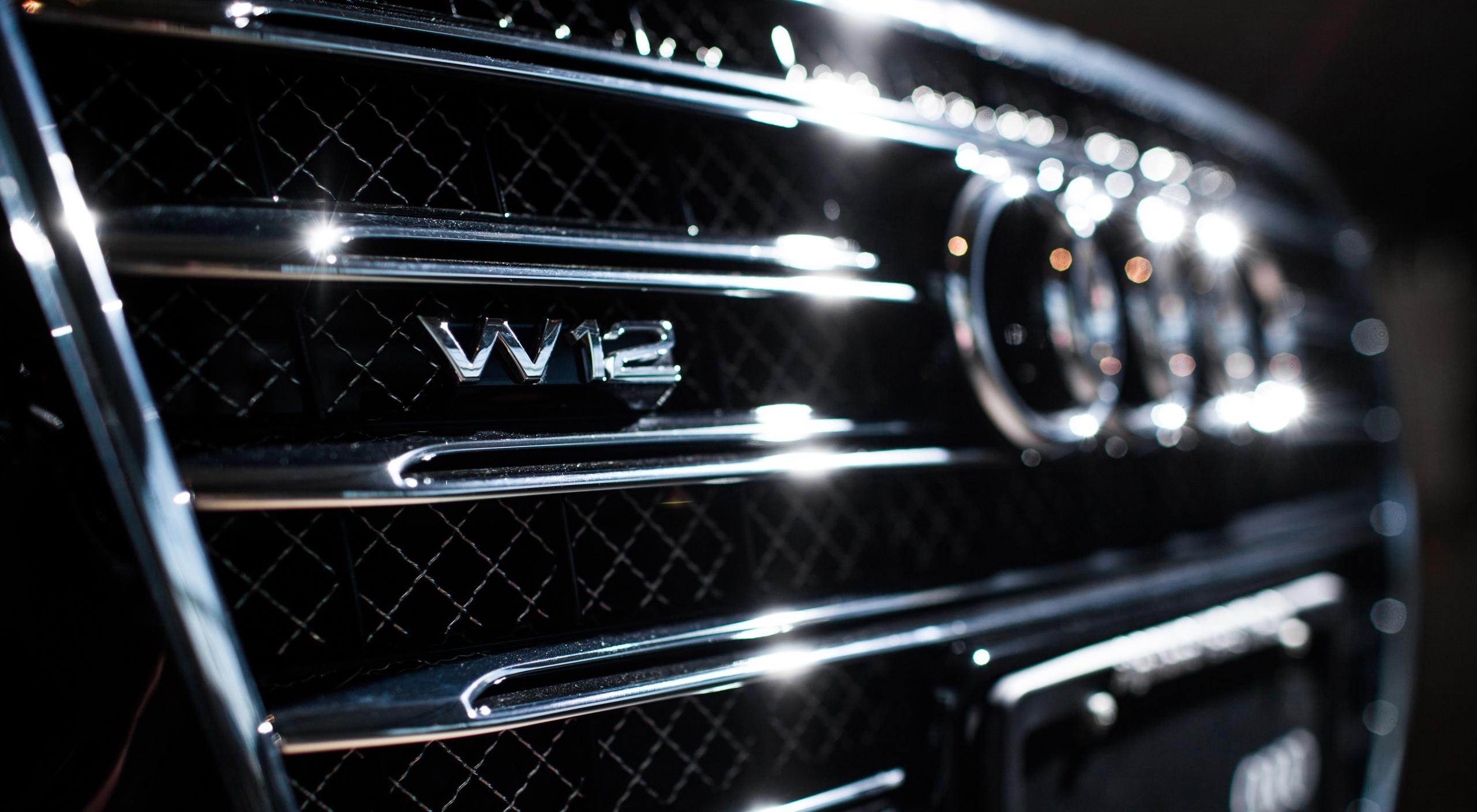 Хромированная решетка радиатора автомобиля Audi