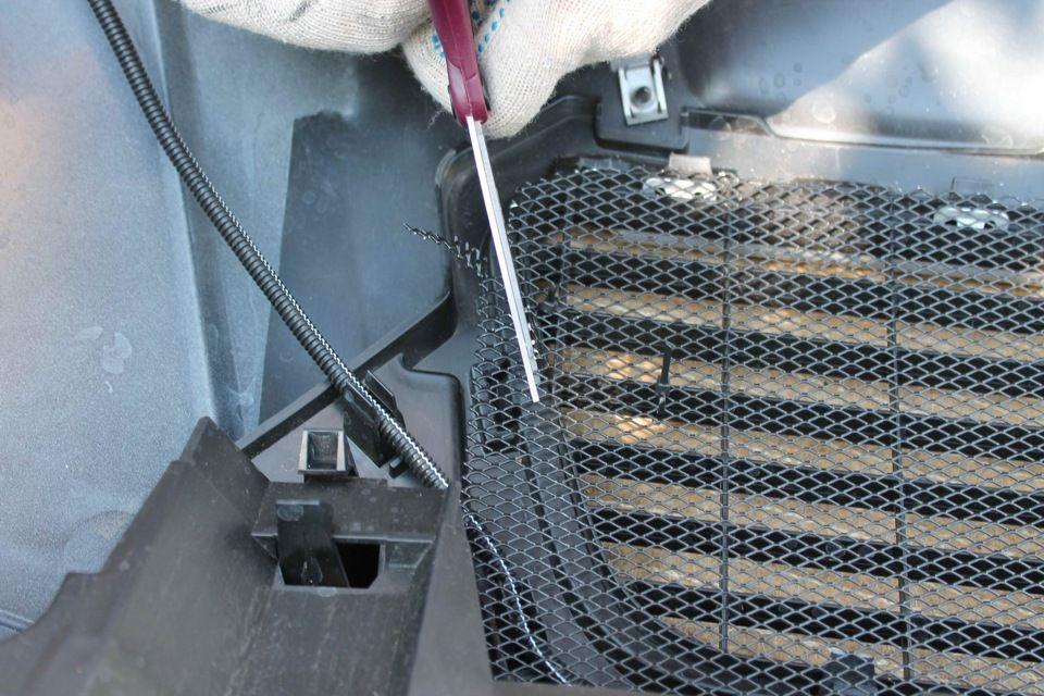 Раскрой сетки по размерам радиаторной