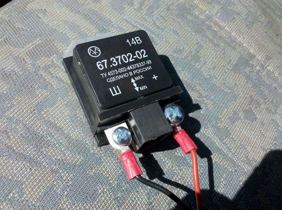 rele1 - Схема подключения регулятора напряжения к генератору