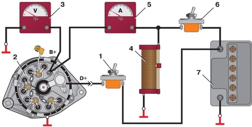 rele2 1024x519 - Схема подключения регулятора напряжения к генератору