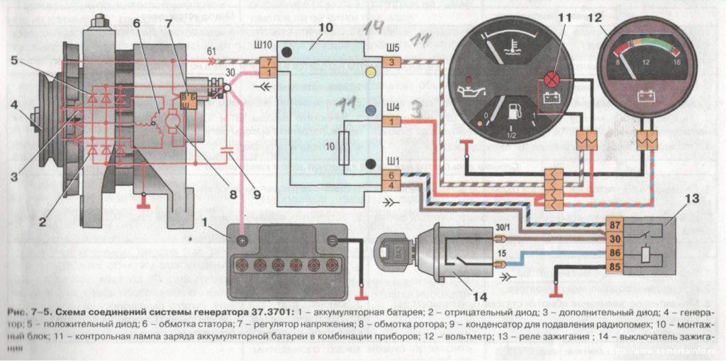 rele20 1 1024x509 - Схема подключения регулятора напряжения к генератору