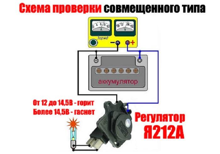 rele22 - Схема подключения регулятора напряжения к генератору