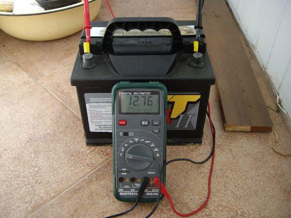 Измерение характеристик аккумулятора