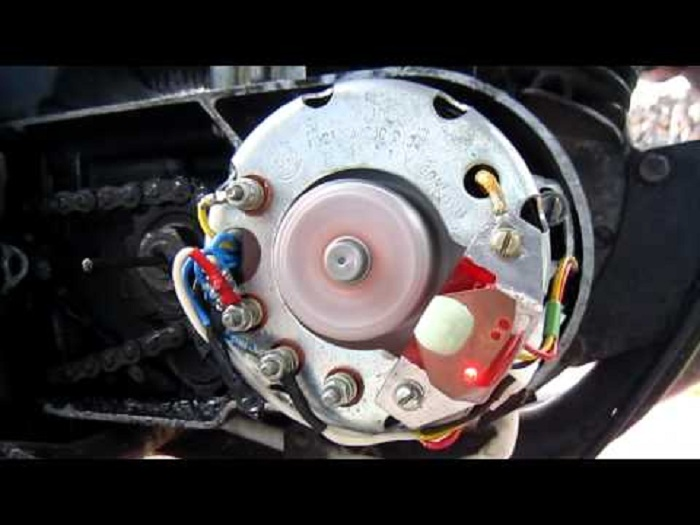 Оптический датчик на скутере