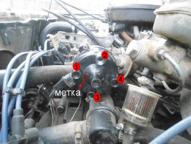 Правильное подключение высоковольтных проводов ВАЗ 2109