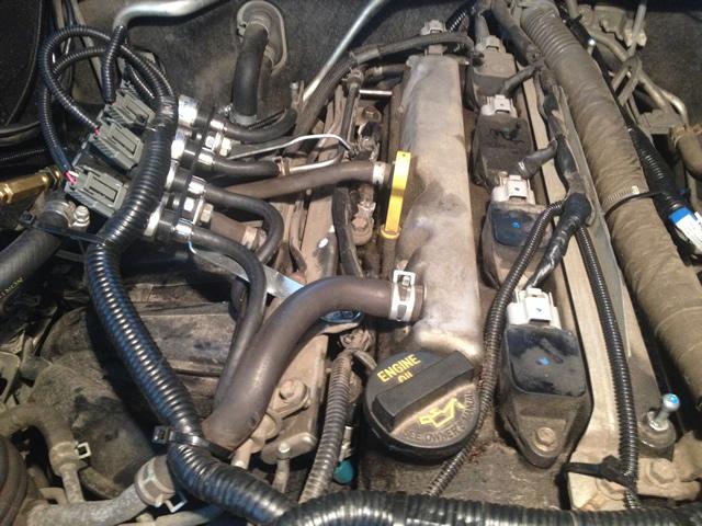 Подача газа в двигатель