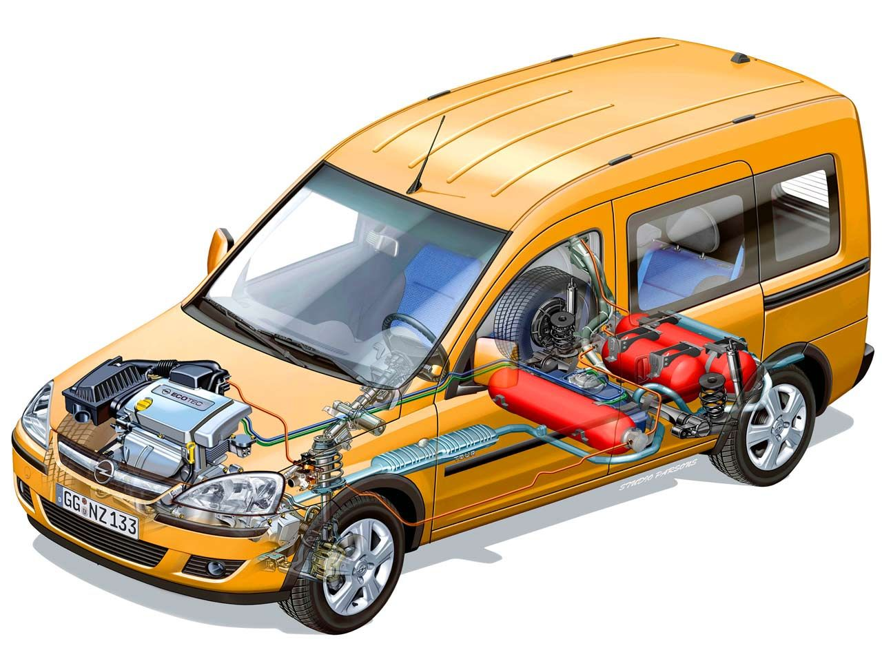 Схема ГБО в автомобиле