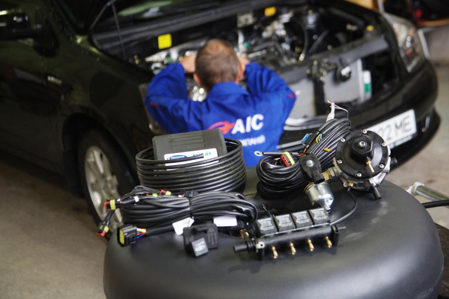 Установка и подключение газобалонного оборудования