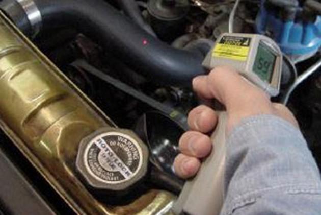 Определение температуры непосредственно на автомобиле