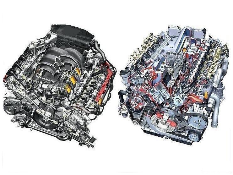 Бензиновый и дизельный моторы