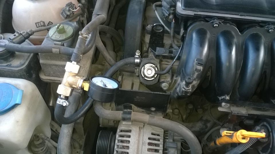 Маленькое давление в системе подачи топлива