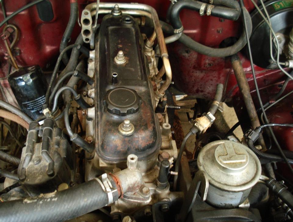 Двигатель Toyota 4Y, установленный на автомобиль Daihatsu Rocky