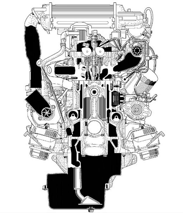 Поперечный разрез мотора