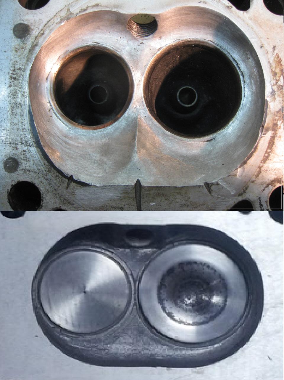 Версии мотора ЗМЗ 406 отличаются камерами сгорания