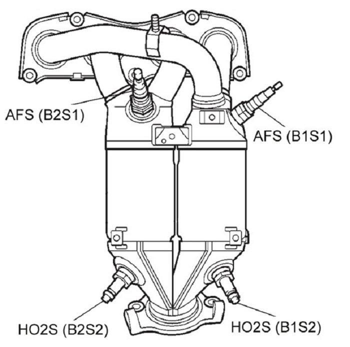 Каткатализатор 2AZ-FE