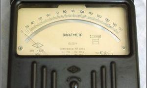 Измерение напряжения цепи с помощью вольтметра