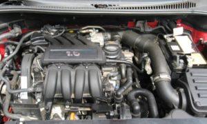 Двигатель Audi BSF/BSE 1.6 со специфичной выхлопной системой
